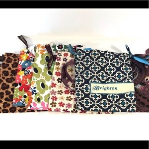6 Brighton fabric pouches